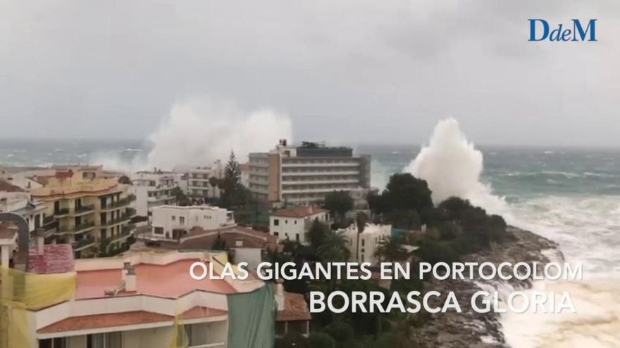 Un año de la Borrasca Gloria en Mallorca (vídeo): El temporal provocó olas gigantes en Portocolom