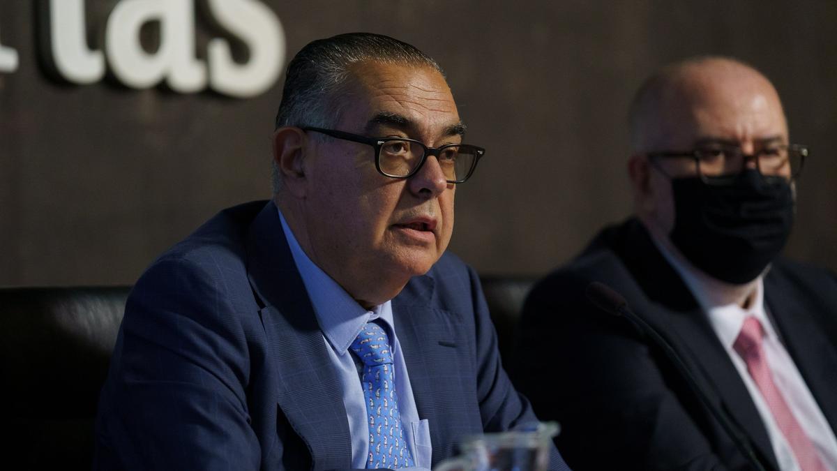 El presidente de CEOE-Tenerife, José Carlos Francisco, en la Asamblea anual