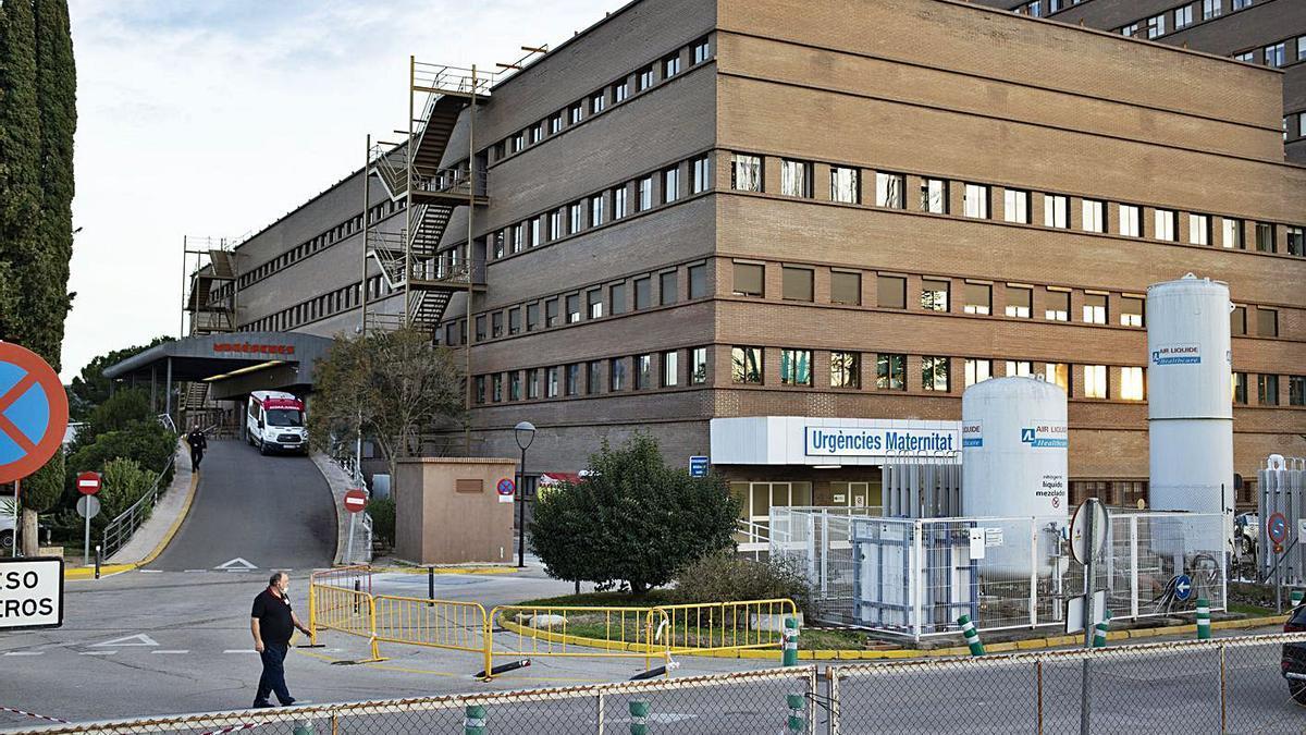 El hospital de Xàtiva con la entrada de Urgencias.