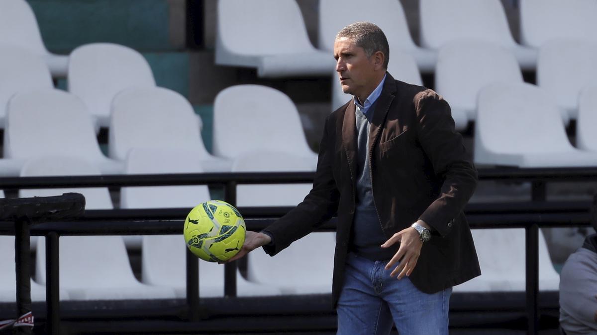 Juan Carlos Garrido, en el partido contra el Mallorca en Castalia.