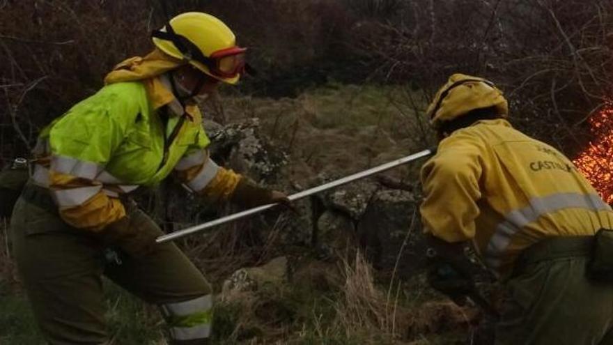 Declarado de nivel 1 un incendio en Salamanca por afección de más de 30 hectáreas arboladas