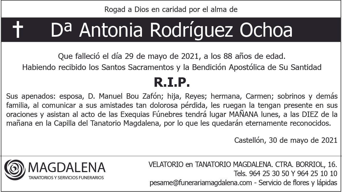 Dª Antonia Rodríguez Ochoa