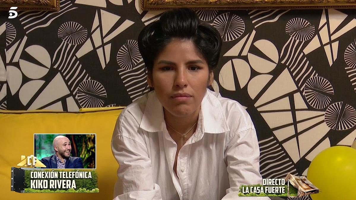 Isa Pantoja, durante la conexión con Kiko Rivera.