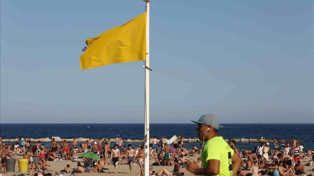 Bandera amarilla en seis playas de Águilas y Cartagena