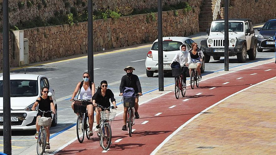 Nuevo acceso desde el puerto de Formentera a ses Illetes para los ciclistas