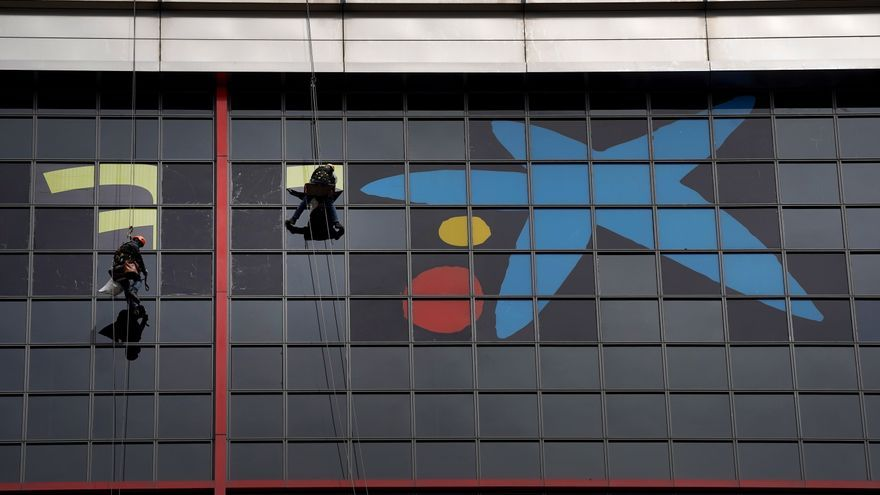 Comienza a desaparecer de Madrid el logotipo de Bankia