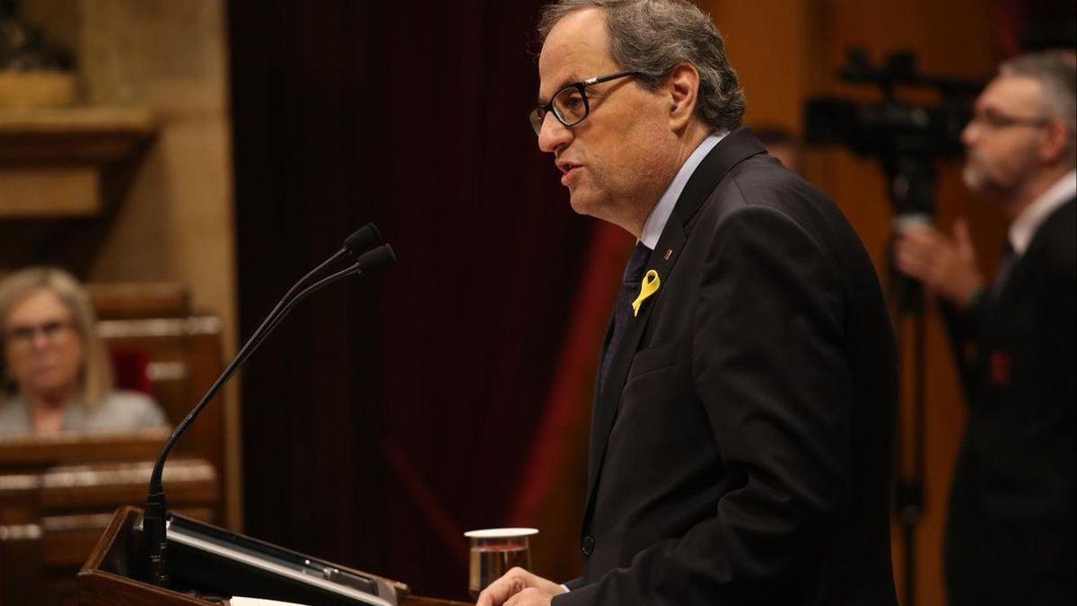 El Supremo confirma las multas impuestas a Torra por los lazos amarillos en edificios públicos