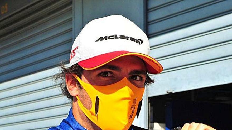 Carlos Sainz saldrá tercero en Monza