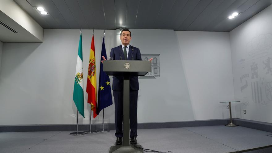 Moreno pide a Sánchez que active ya una mesa bilateral sobre fondos europeos