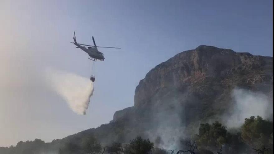 Incendio a los pies del Montgó, décimo en La Marina en solo una semana