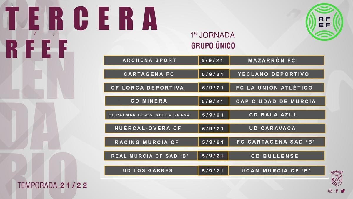 Primera jornada del calendario liguero