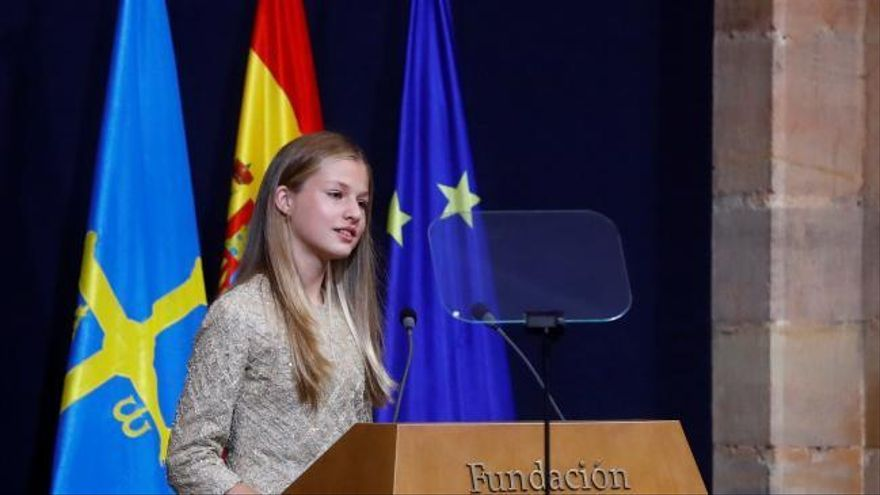 """La Princesa Leonor apela a mantener la esperanza """"de que todo mejore"""" con responsabilidad y solidaridad"""