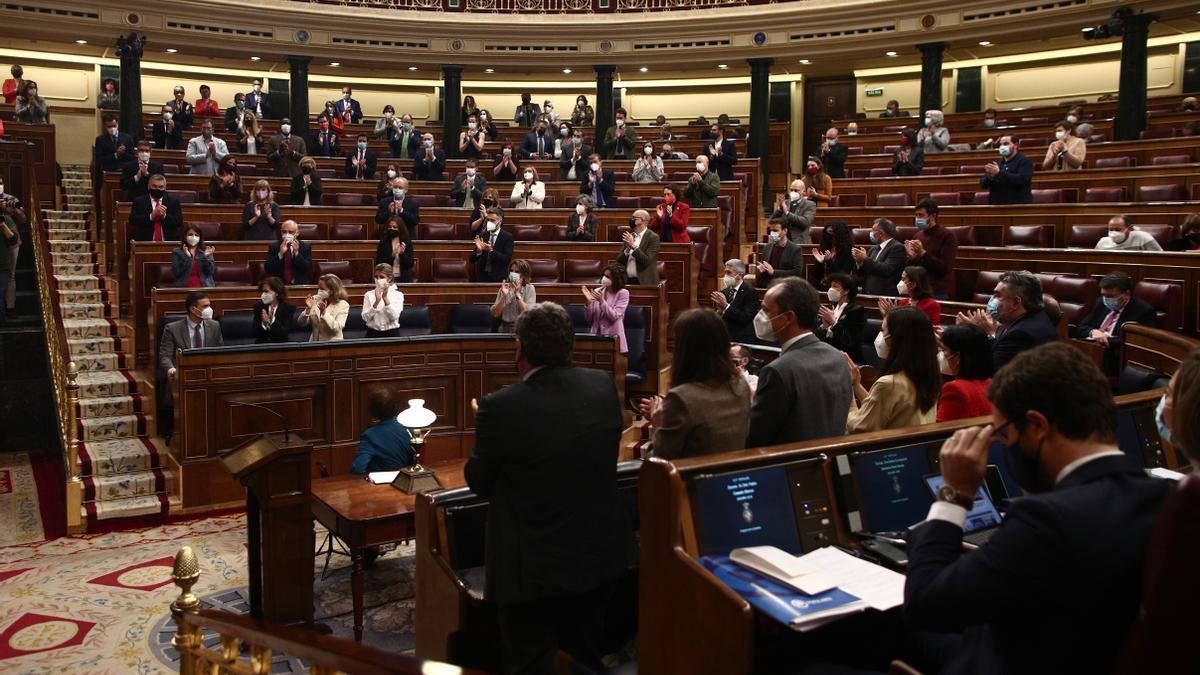Imagen de esta mañana del pleno del Congreso.