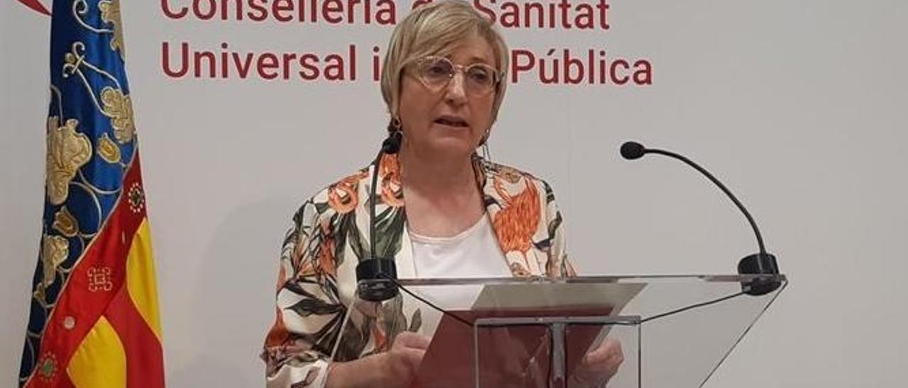La consellera de Sanidad, Ana Barceló, en una de sus comparecencias