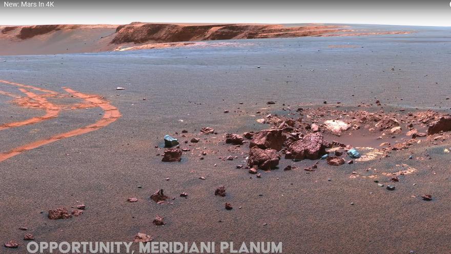 Mart com no l'havies vist abans: un vídeo espectacular mostra el planeta roig en resolució 4K