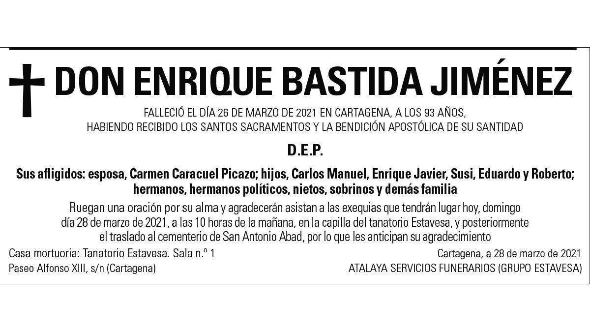 D. Enrique Bastida Jiménez
