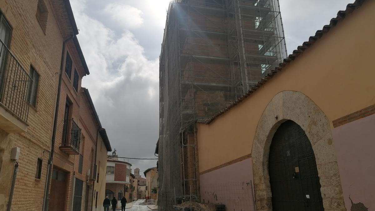 Torreón del monasterio de Santa Sofía en el que se han iniciado las obras de rehabilitación