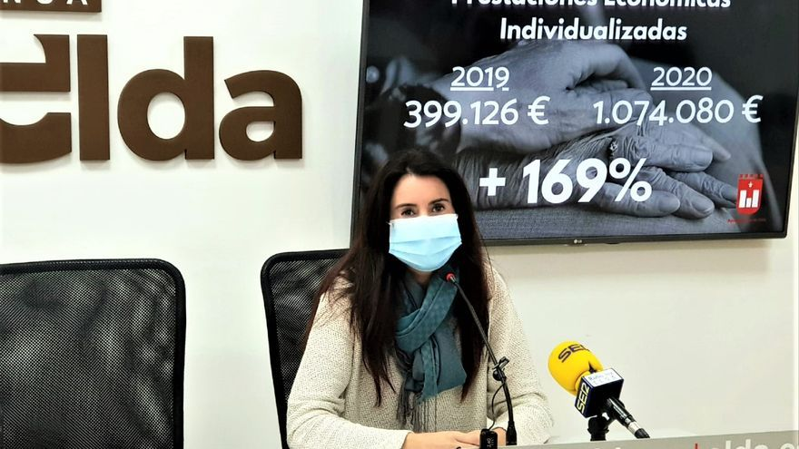 Elda aumenta un 169% las ayudas sociales para las familias afectadas por la pandemia