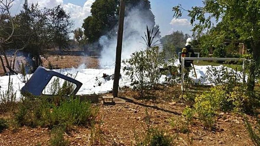 Siete fallecidos al colisionar en el aire una avioneta y un helicóptero en Mallorca