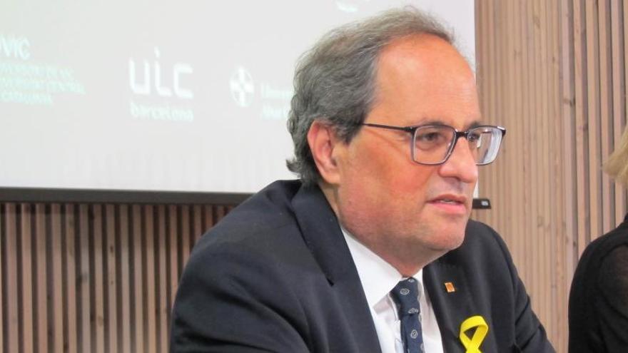 Torra diu Catalunya no necessita tants policies i sí més infraestructures