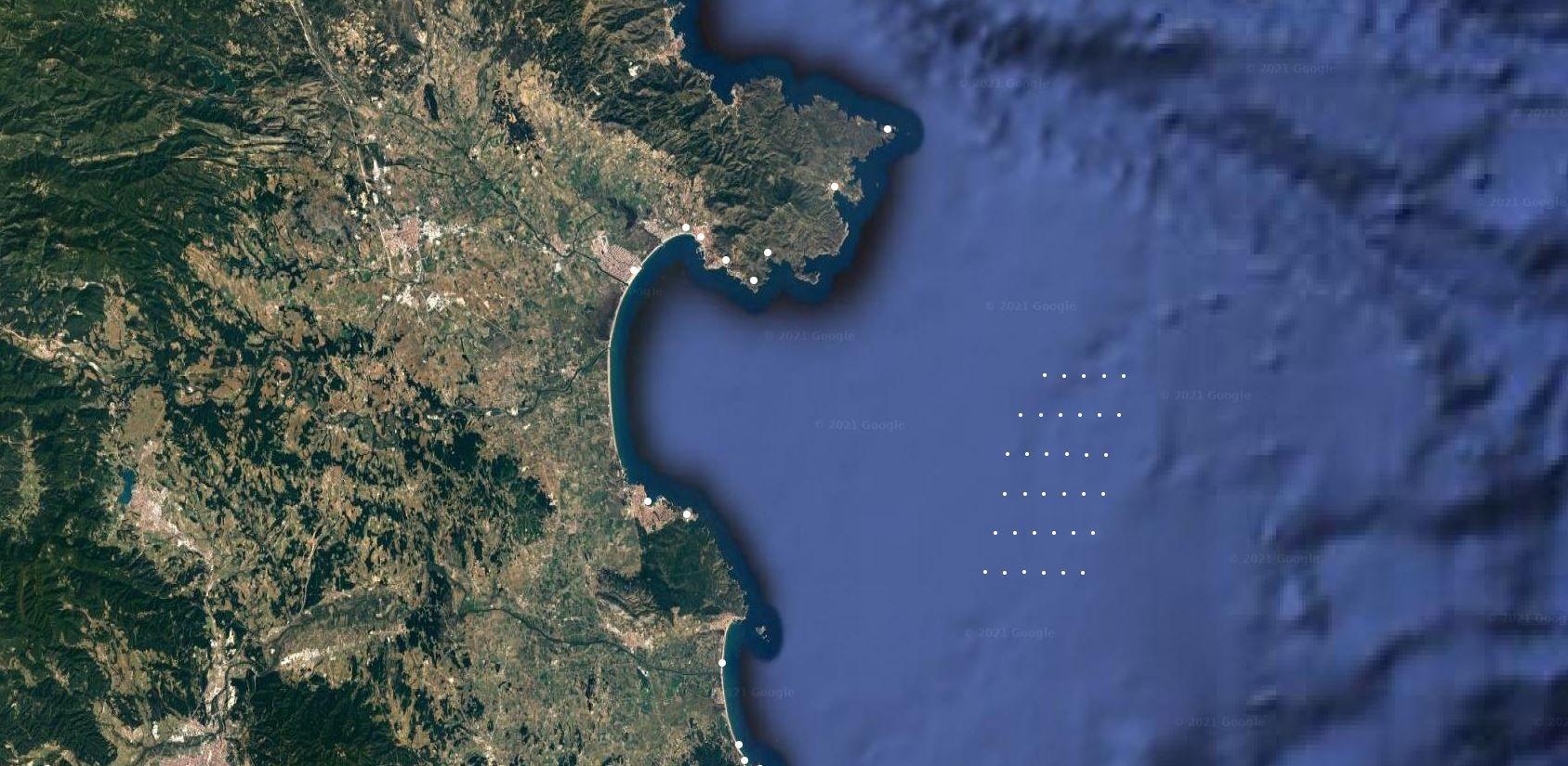Mapa general d'on estaran ubicats els aerogeneradors