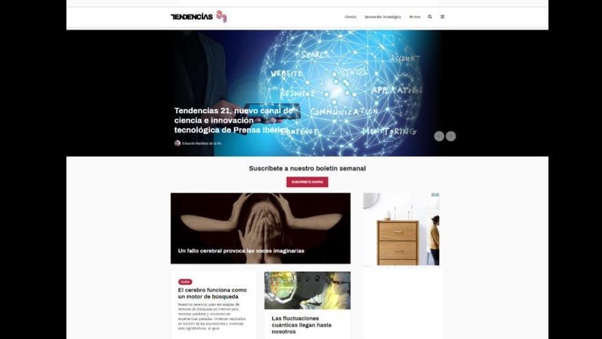 Prensa Ibérica lanza 'Tendencias 21', su nueva web de ciencia e innovación tecnológica