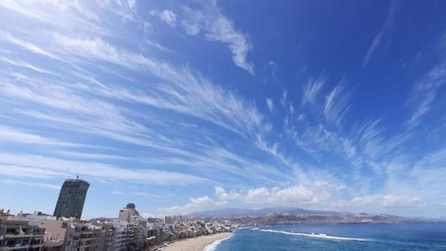 El cielo de Gran Canaria libre de contaminación por el confinamiento