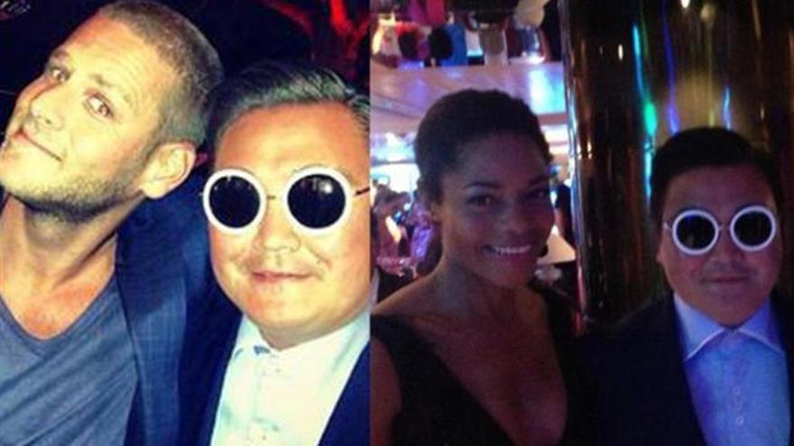 Un imitador de Psy se cuela en Cannes con mucho éxito