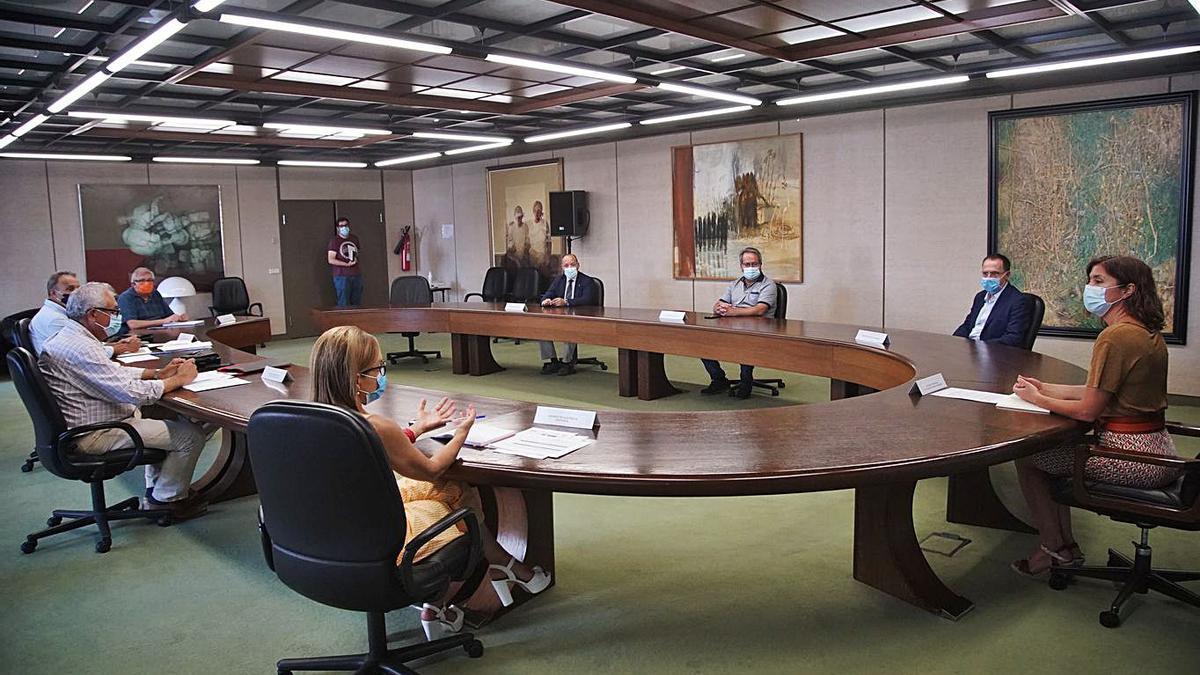 Reunión del Centro de Coordinación Integrada, en la Delegación de la Junta en Zamora.   Jose Luis Fernández