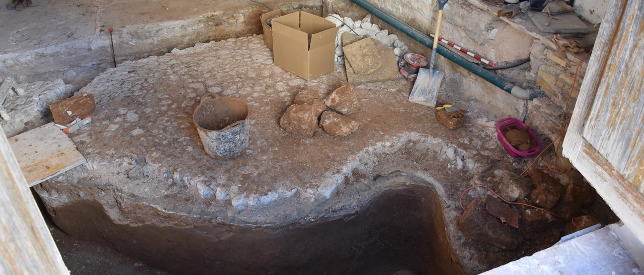 Imagen de parte de la cisterna. César Navarro