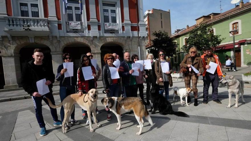 Los dueños de perros piden acabar en Mieres con la oruga procesionaria
