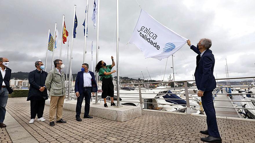 """Los puertos deportivos de Sanxenxo y Portonovo lucen el sello de """"Galicia Calidade"""""""