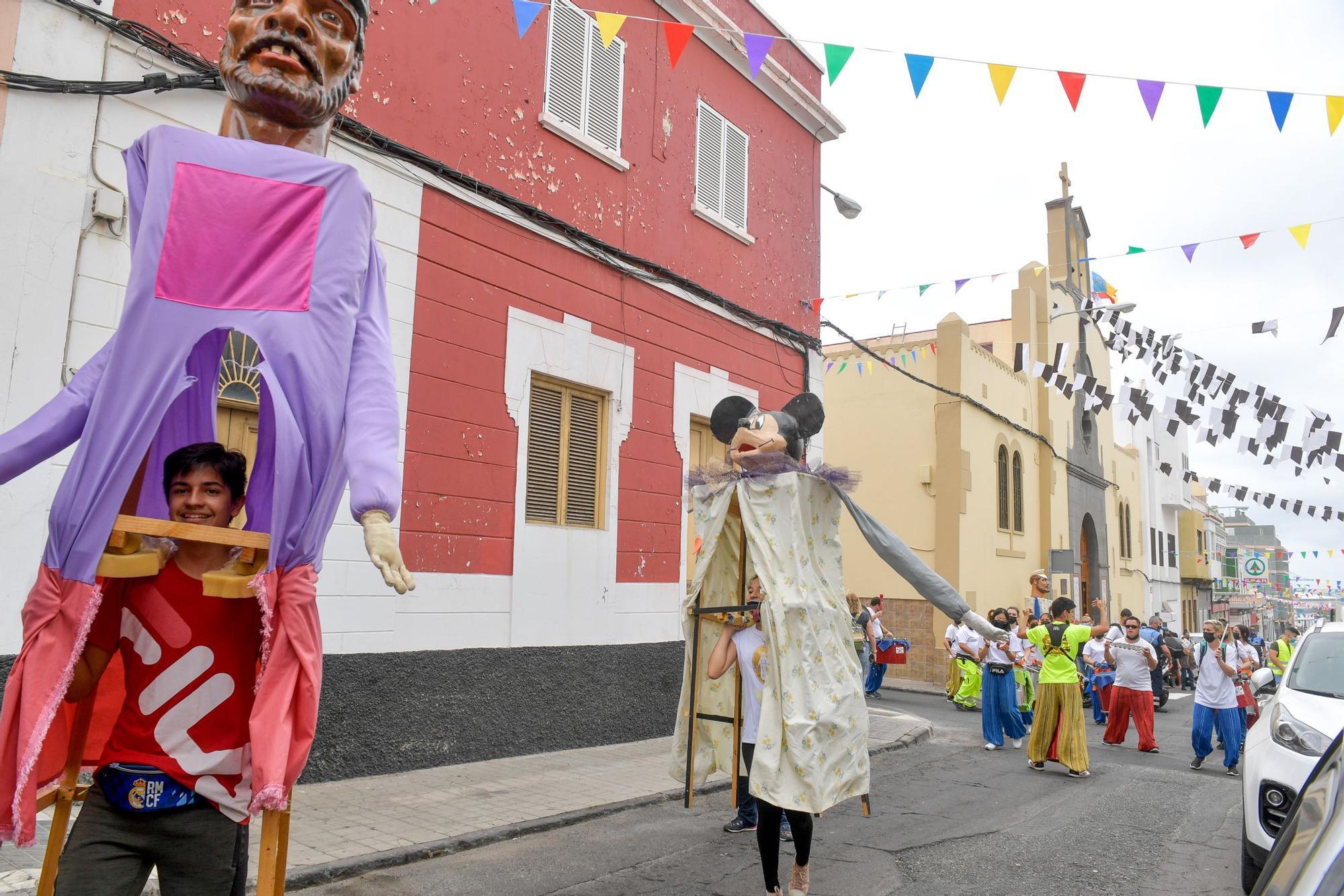 Pasacalles anunciador de las fiestas del Carmen en La Isleta (06/07/2021)