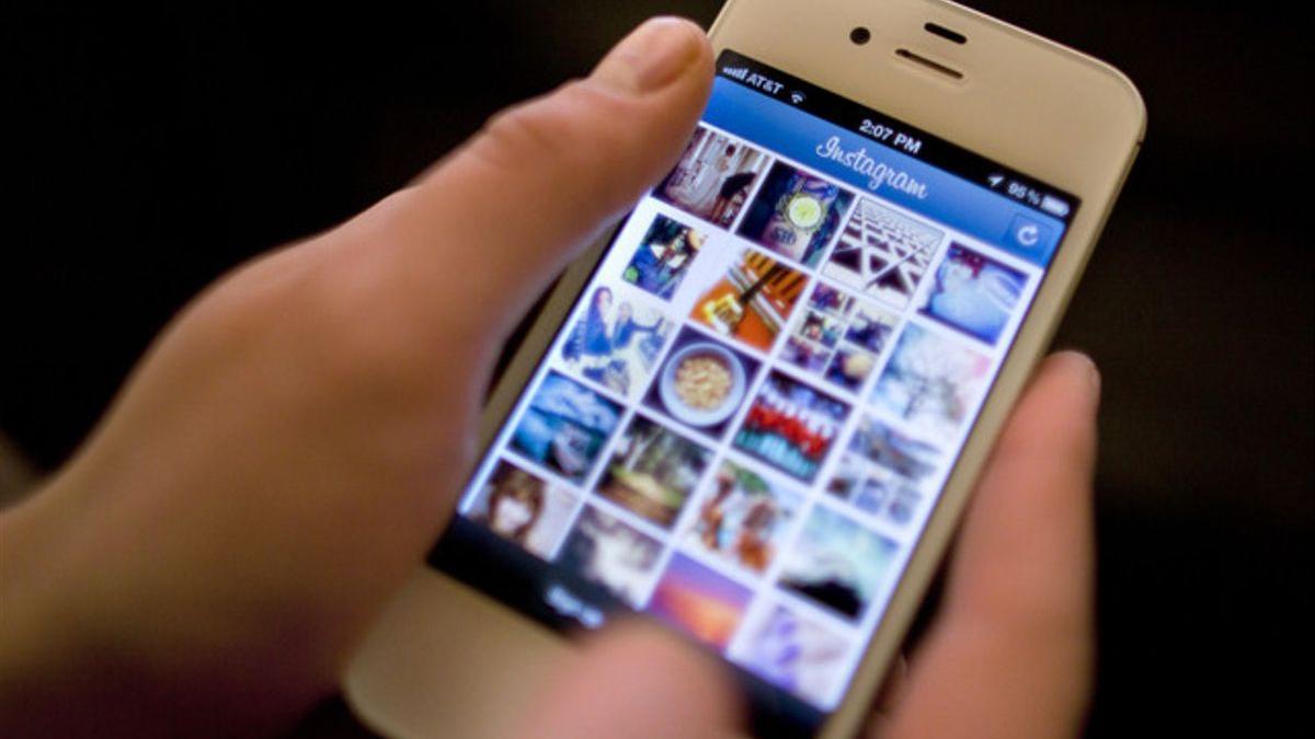 Instagram en un iPhone.