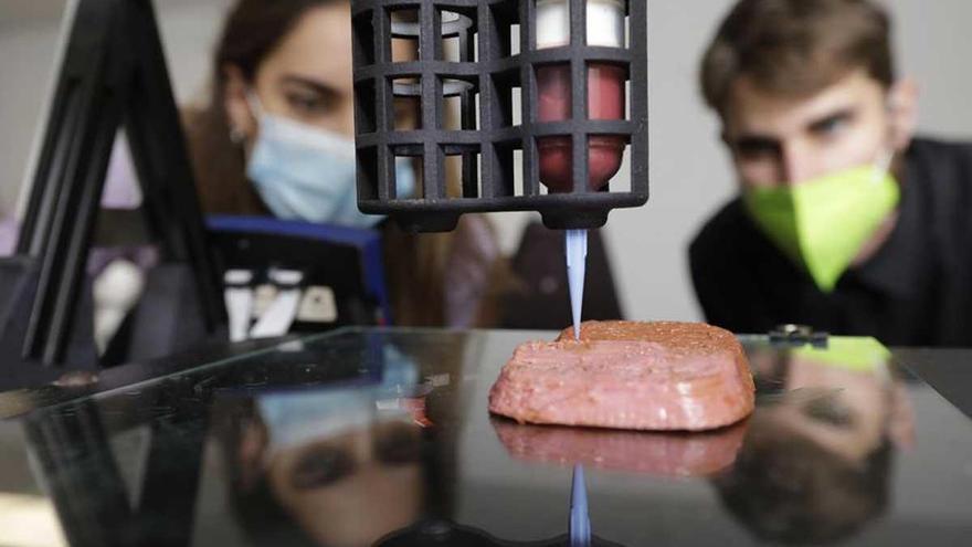 El filete vegano en 3D y otras innovaciones en alimentación