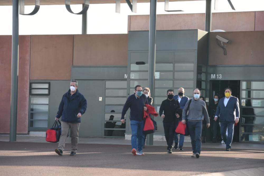 Els presos del procés surten de la presó aquest 29 de gener