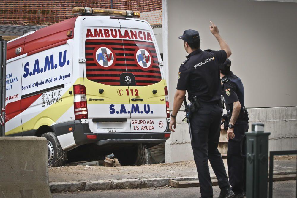 Un muerto en un accidente laboral en Alcoy