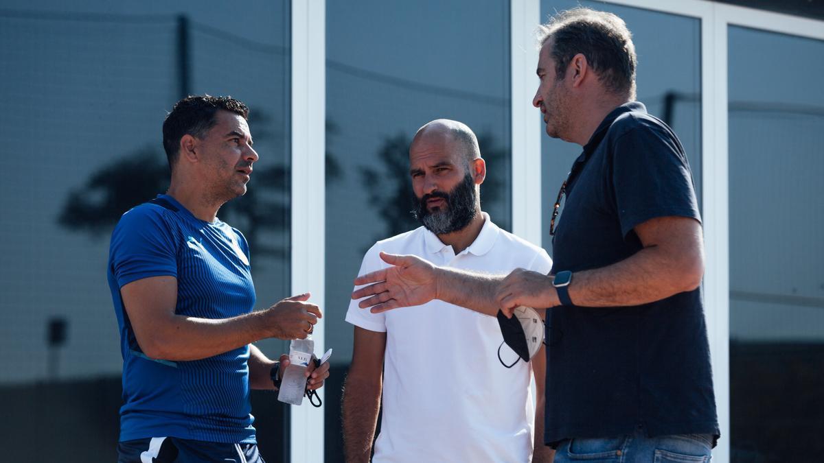 Míchel saluda Soriano i Guardiola aquest matí