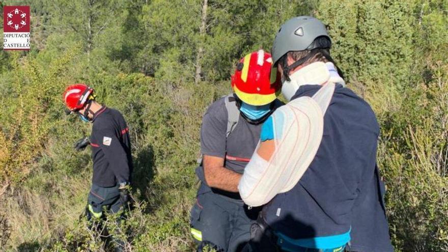 Accidente en Vallat de un escalador que cae desde unos 7 metros de altura