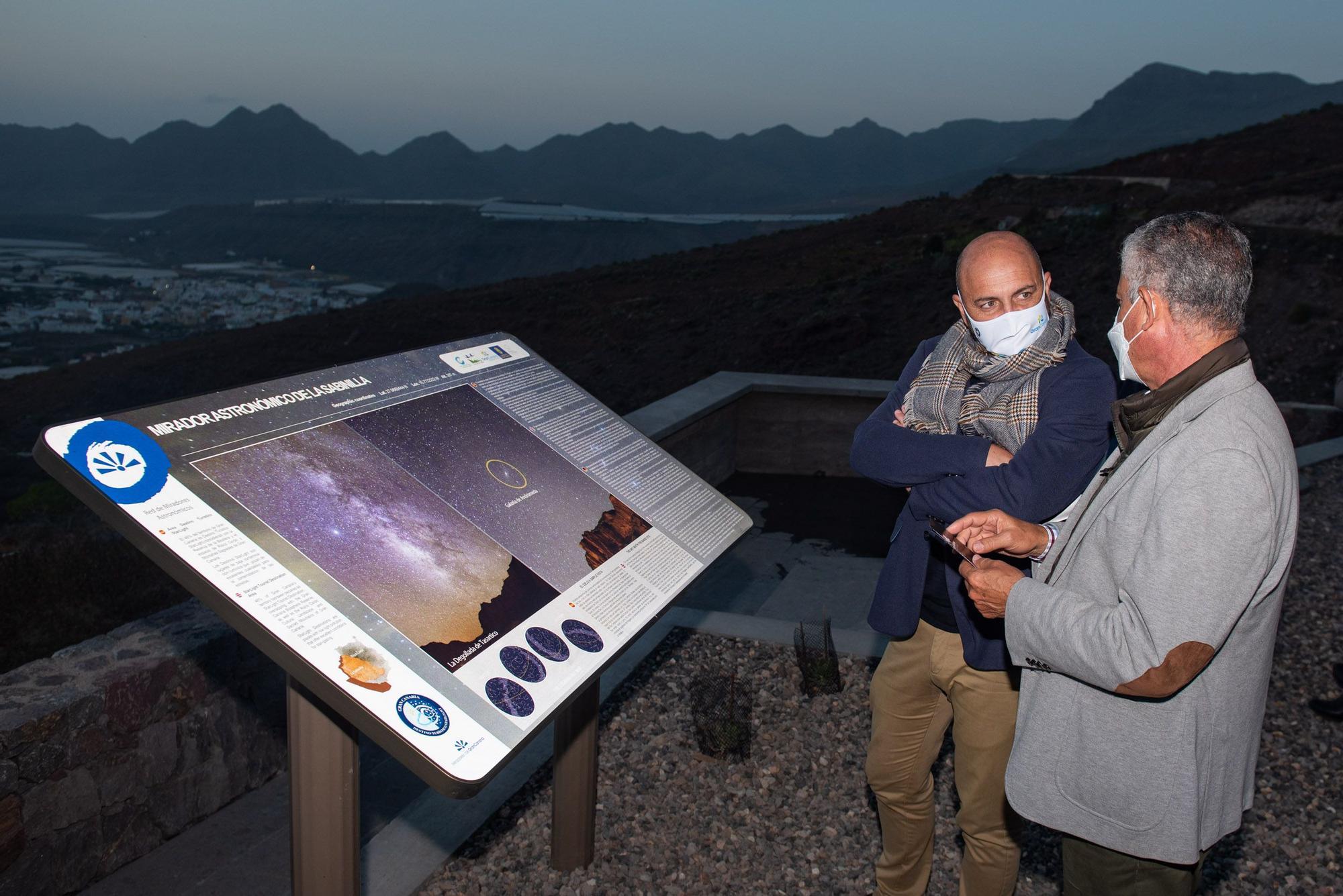 La Aldea inaugura tres miradores astronómicos