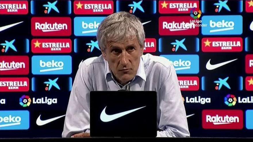 """Setién, tras el empate frente al Atlético: """"Seguimos fuertes y con ganas"""""""