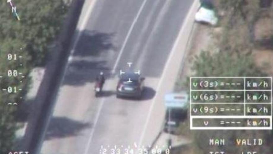 Hubschrauber jagt Verkehrssünder auf Mallorca