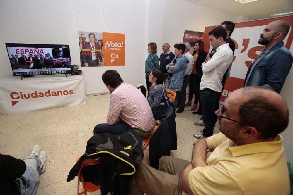 Reaccion de Ciudadanos a la noche electoral.