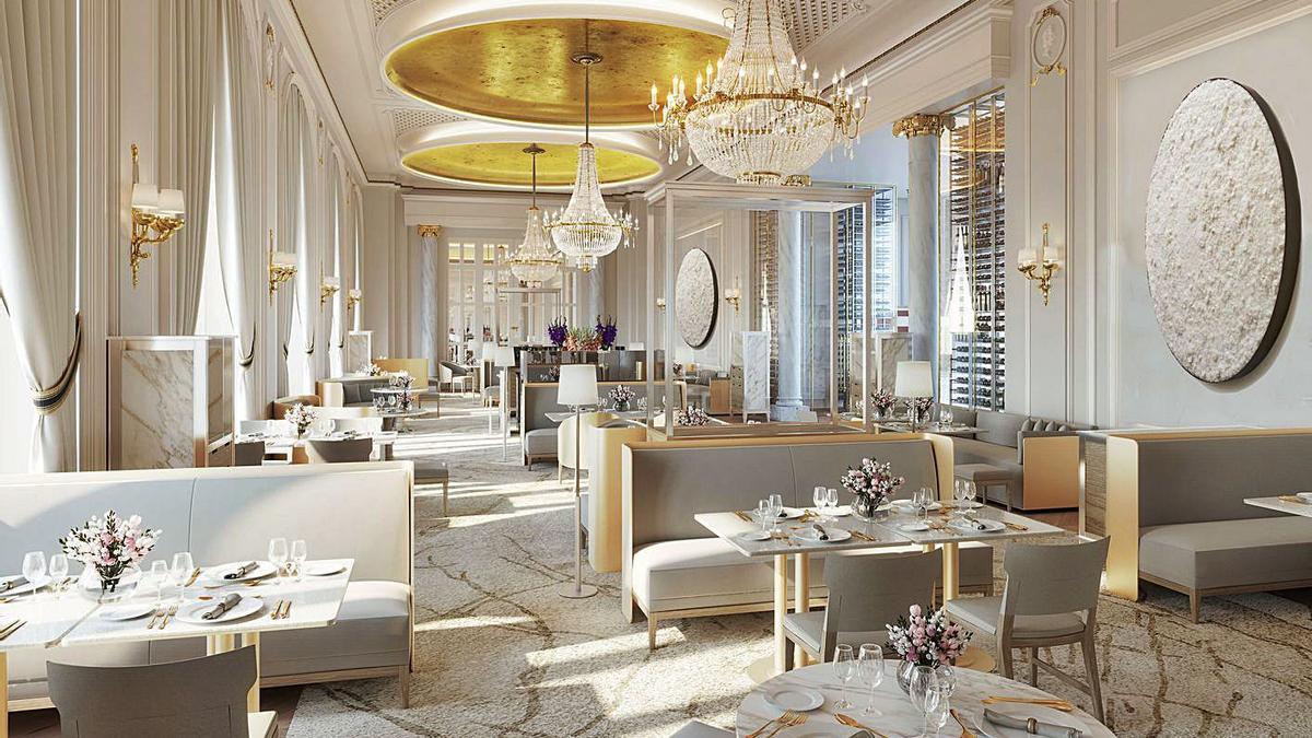 El salón del restaurante Deesa, en el modernización Hotel Ritz, y Quique Dacosta en Madrid. | NOMBRE FEQWIEOTÓGRAFO