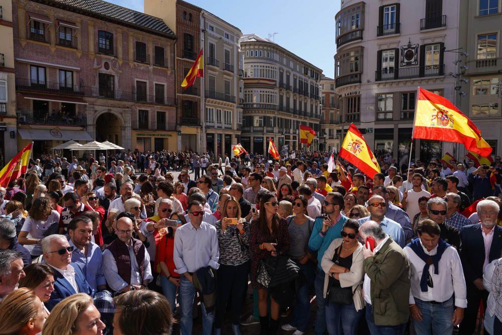 Manifestación por la unidad de España en Málaga