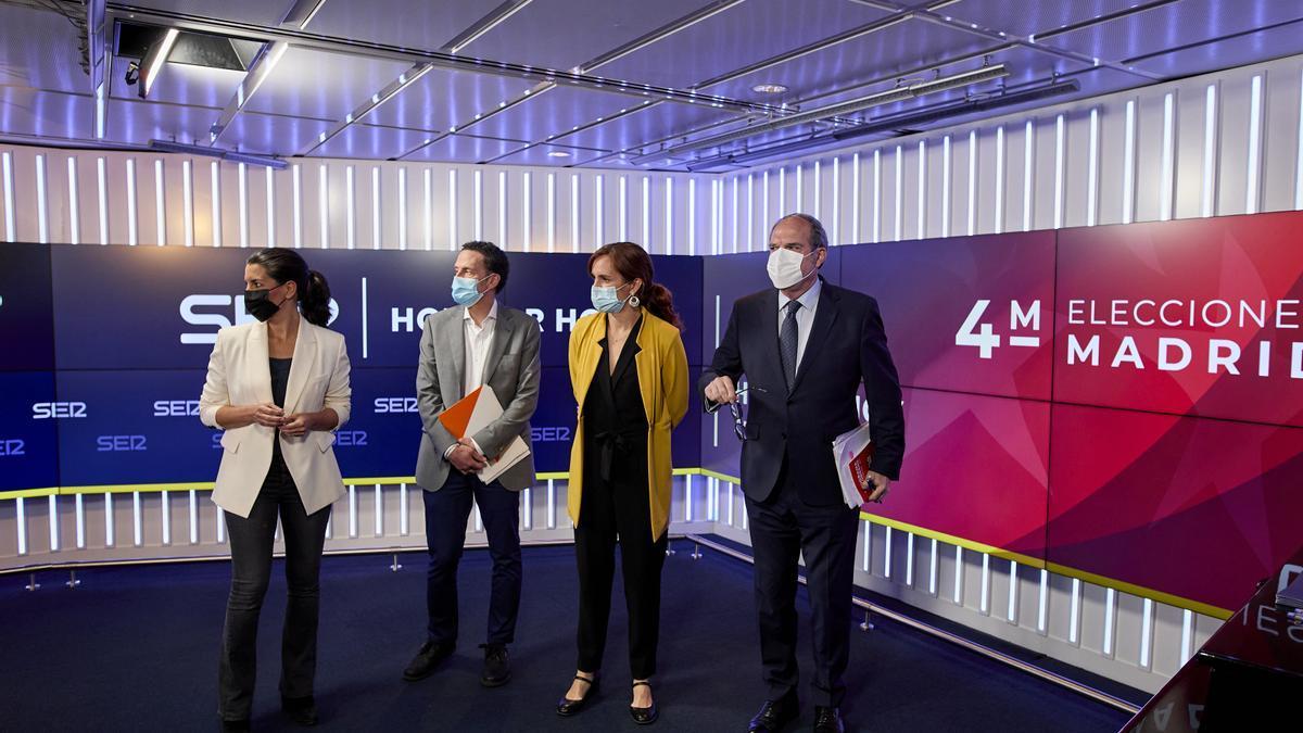 Monasterio, Bal, García y Gabilondo en el debate de la SER de este viernes.