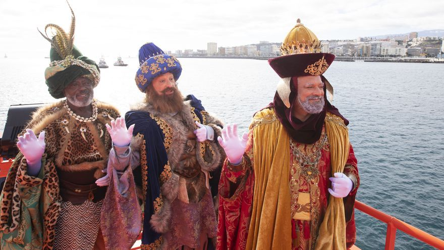 Los Reyes Magos llegan a Las Palmas de Gran Canaria