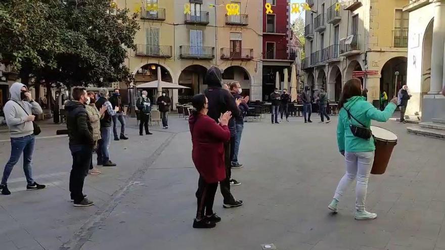Protesta de la Guàrdia Urbana de Figueres en contra del nou quadrant horari