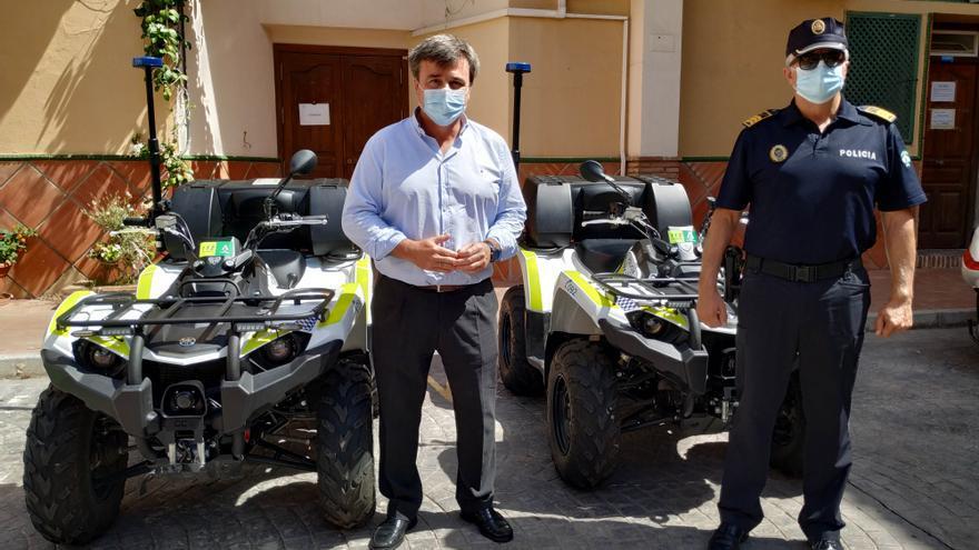 La Policía Local de Málaga vigilará las playas con dos quads cedidos por la Junta
