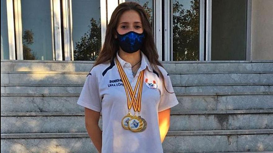 Lara López logra tres medallas en el Open Internacional